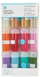 Martha Stewart Crafts Glass Microbead Set, 12-Pack