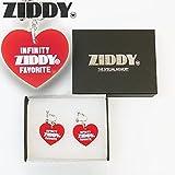 Ziddy(ジディー) ロゴ入りハート_イヤリング /F/レッド/1221-28040