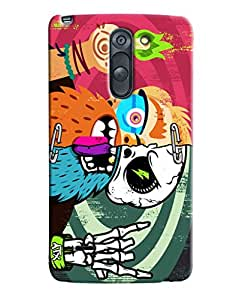 Blue Throat Zombie In Color Printed Designer Back Cover/ Case For LG G3 Stylus