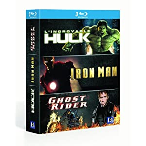 Marvel super heros : Iron man, Ghost rider, l'Incroyable hulk [Blu-ray]