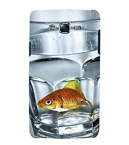 printtech Fish In Glass Back Case Cover for Samsung Galaxy E5 / Samsung Galaxy E5 E500F