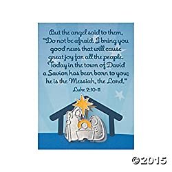 Set of Three (3) NATIVITY Lapel Pins w/Prayer Card LUKE 2:10-11 - 1.25