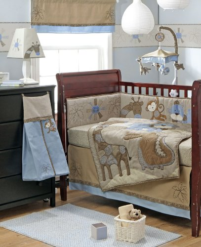 Mosaic Jungle 4-Piece Crib Bedding Set by Bananafish