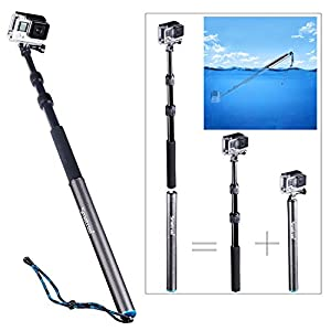 """Smatree® SmaPole S3 Detachable and Extendable Floating Pole (12.5""""-39.5"""") for GoPro Hero 4/3+/3/2/1; Made of High Quality Aluminium & Carbon Fiber"""
