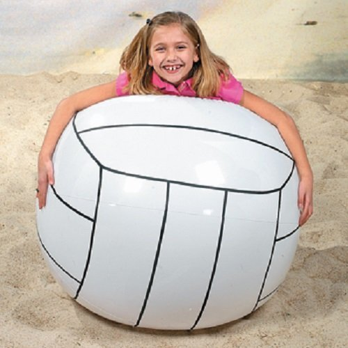 "Giant Inflatable Volleyball 48"" Jumbo Beach Outdoor Fun"