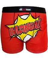 The Big Bang Theory Official Gift Mens Boxer Shorts Red (RRP £9.99!) BAZINGA!