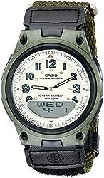 Casio Men's AW80V-3BV World Time Ana-Digi Data Bank 10-Year-Battery Watch