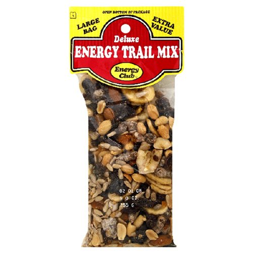 Buy Energy Club Deluxe Energy Trail Mix, 8.5-Ounce Bags (Pack of 12) (Energy Club, Health & Personal Care, Products, Food & Snacks, Snacks Cookies & Candy, Snack Food, Trail Mix)