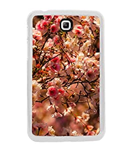 Spring Flowers 2D Hard Polycarbonate Designer Back Case Cover for Samsung Galaxy Tab 3 8.0 Wi-Fi T311/T315, Samsung Galaxy Tab 3 8.0 3G, Samsung Galaxy Tab 3 8.0 LTE