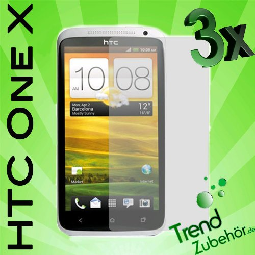 "3x Orginal ""Trend-Zubehör"" ONE X CrystalClear Displayschutzfolie HTC ONE X Display Schutz Folie"