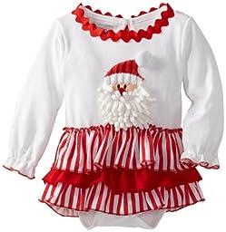 Mud Pie Unisex-Baby Newborn Santa All-In-One Dress, Multi, 6-9 Months