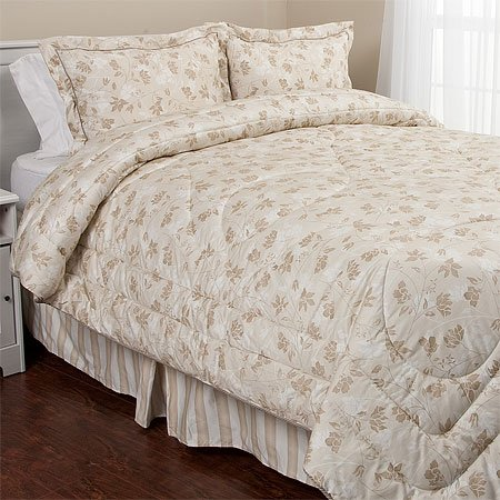 Eileen West Tranquil Taupe Comforter Set, King