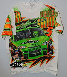 Mark Martin Godaddy All Over Print Tee Adult Med by Motorsport Authentics