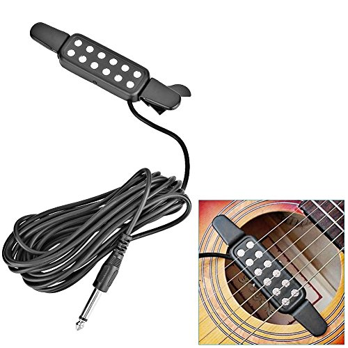 12 Hole Sound Pickup Acoustic Audio Transducer Amplifier, Electric Transducer Microphone Wire Amplifier Speaker for Acoustic Guitar Good (Good Wire compare prices)