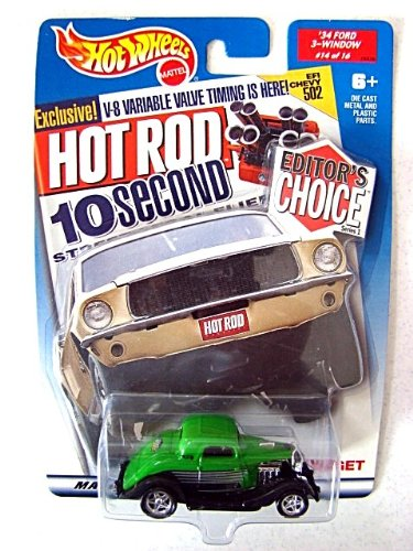 1:64 Green '34 Ford 3-Window - #14 of 16 - Hot Wheels Hot Rod Magazine Editor's Choice Series 1 - Target Stores Exclusive - 1