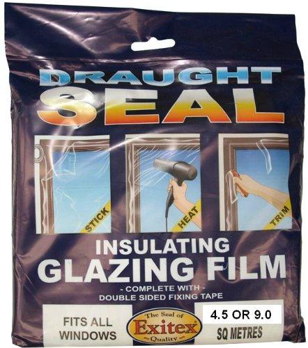 Insulating Film for Windows, Transparent Glazing Film 4.5m2 (3m x 1.5m)