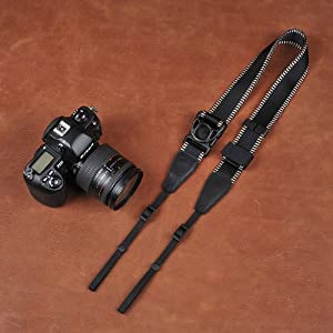 Ninja Strap!Vintage B&W Film Style Quick Release Sliding Flexible Camera Neck Shoulder Strap 8820