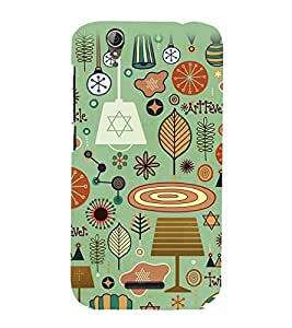 Fuson Premium Twinkle Printed Hard Plastic Back Case Cover for Acer Liquid Z630