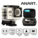 ANART? White HGSPC-04-S-WH HD 720P Sports Camera Action Diving 98FT(30M) Waterproof Helmet DVR With the Small Shockproof Bag