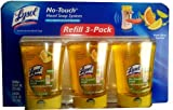 Lysol No-Touch Hand Soap System Fresh Citrus Squeeze - 3 Pack Refill