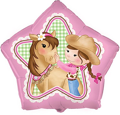 "Pink Cowgirl 18"" Foil Balloon"