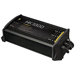 MinnKota MK 330D On-Board Battery Charger (3 Banks, 10 Amps per Bank) by Minn Kota