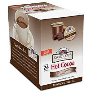 Grove Square Hot Cocoa Cups, Dark,Single Serve Cup for Keurig K-Cup Brewers, 24-Count