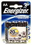Energizer AA Lithium Advanced Batteries (L91, LR6, MN1500, MIGNON). 4 Pack