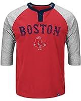 Men's Boston Red Sox Henley T-Shirt Quarter Sleeve Tee