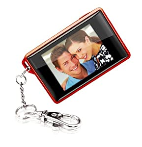 Coby DP180RED 1.8-Inch Digital TFT LCD Photo Keychain, Red