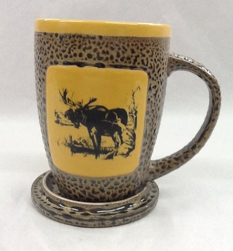 Moose Mug With Lid In Yellow