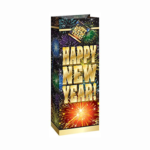 Fireworks New Years Wine Gift Bag