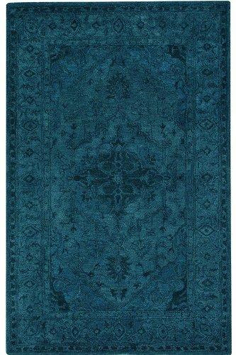 Kingdom Wool Area Rug, 8'x11', BLUE