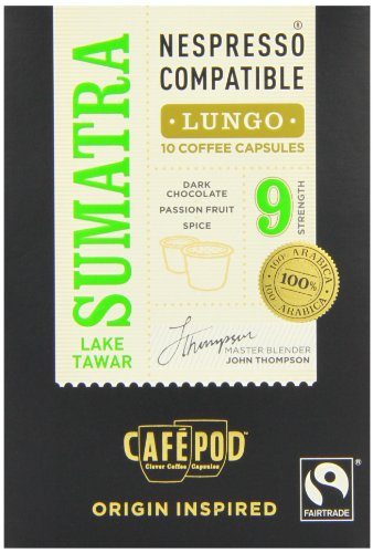 CafePod Nespresso Compatible Arabica Sumatra (Pack of 4, Total 40 Pods)