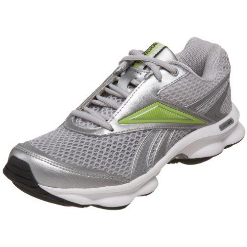 4a036b9fa9ea4 Reebok Women s Runtone Running Shoe Pure Silver White Kiwi Green Black 11 M  US