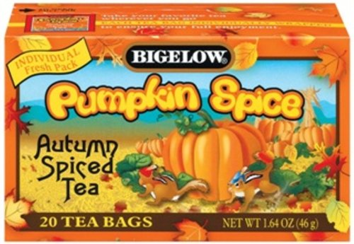 Buy Bigelow Pumpkin Spice Tea, 1.64 Ounce Boxes (Pack of 6) (Bigelow, Health & Personal Care, Products, Food & Snacks, Beverages, Tea)