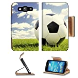 Soccer Ball in the Field Samsung Galaxy S3 I9300 Flip Cover Case with Card Holder Customized Made to Order Support... by MSD Galaxy S3 Case