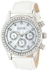 August Steiner Women's AS8018SSW Multifunction Dazzling Strap Watch