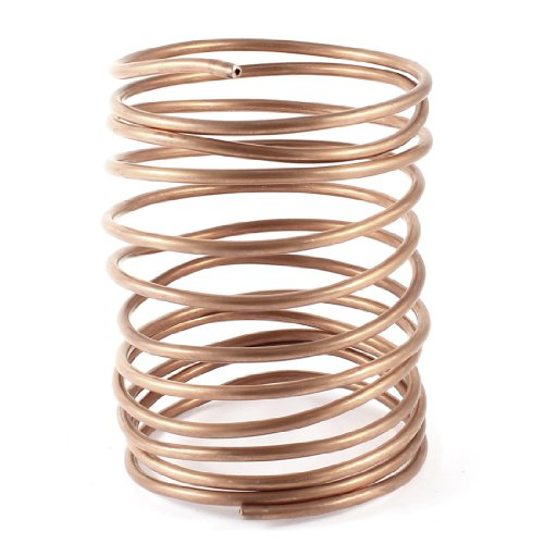 3.2M 10.5Ft Long 3mm Dia Copper Tone Refrigeration Coiled Tubing Coil Model: (Metal Coil Tubing compare prices)