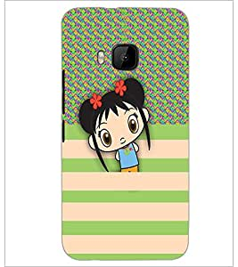 PrintDhaba Cartoon D-3327 Back Case Cover for HTC ONE M9 (Multi-Coloured)