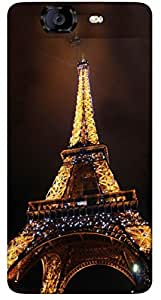 Timpax Protective Armour Case Cover lightweight construction easily slides in and out of pockets. Multicolour Printed Design : Eiffel Tower.100% Compatible with Micromax A350 Canvas Knight