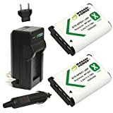 Wasabi Power Battery (2-Pack) and Charger for Sony NP-BX1, NP-BX1/M8 and Sony Cyber-shot DSC-H400, DSC-HX50V, DSC-HX300, DSC-HX400, DSC-RX1, DSC-RX1R, DSC-RX100, DSC-RX100 II, DSC-RX100 III, DSC-RX100M2, DSC-RX100M3, DSC-WX300, DSC-WX350, FDR-X1000V, FDR-X1000VR, HDR-AS10, HDR-AS15, HDR-AS20, HDR-AS30V, HDR-AS100V, HDR-AS100VR, HDR-AS200V, HDR-AS200VR, HDR-CX240, HDR-CX405, HDR-CX440, HDR-MV1, HDR-PJ275, HDR-PJ440