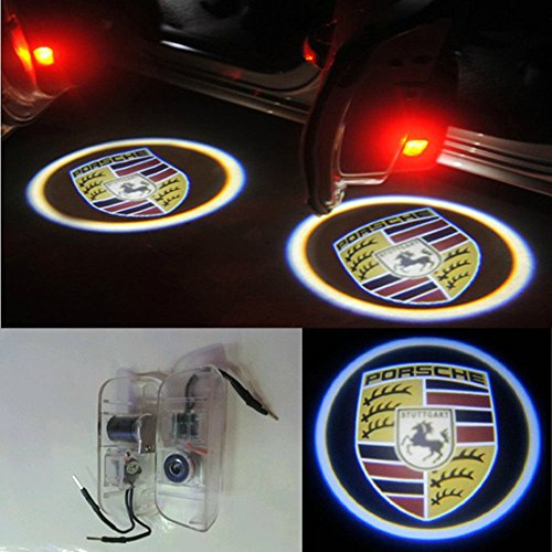 Door Led Courtesy Shadow Ghost Lamp Projector Light 12V For Porsche Cayenne Cayman