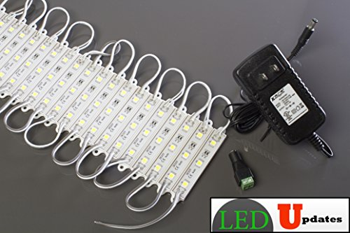 Storefront Sign & Under Cabinet 5050 White Led Light Module With Ul 12V 2A Power Supply