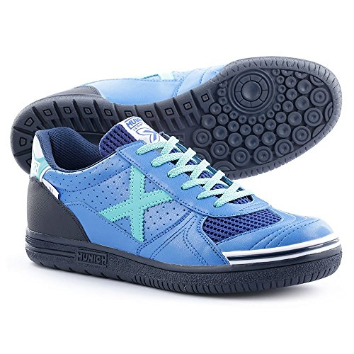 MunichG3 Profit - Scarpe da calcetto Unisex - Adulto , Blu (blu), 44