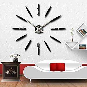 Large decorative wall kitchen clocks on wall sticker klok montre