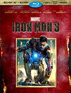 Iron Man 3 Blu-ray 3D cover art