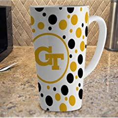 Buy NCAA Georgia Tech Yellow Jackets 16-Ounce White Latte Mug by The Memory Company