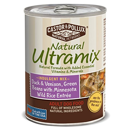 Natural Ultramix Duck & Venison, Green Beans with Minnesota Wild Rice Entree for Adult Dogs, 13.2-Ounce Cans (Pack of 12) (Natural Ultramix Cat Food compare prices)