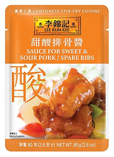 Lee Kum Kee Sauce For Sweet and Sour Pork Spare/Ribs, 2.8-Ounce Pouches (Pack of 12)